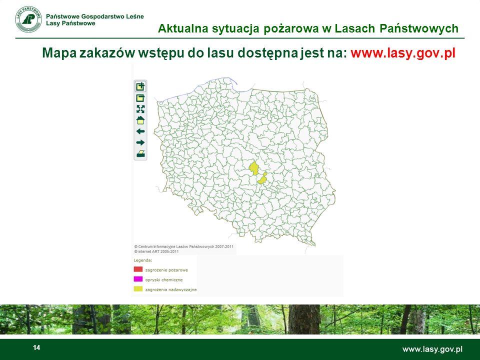 Mapa zakazów wstępu do lasu dostępna jest na: www.lasy.gov.pl