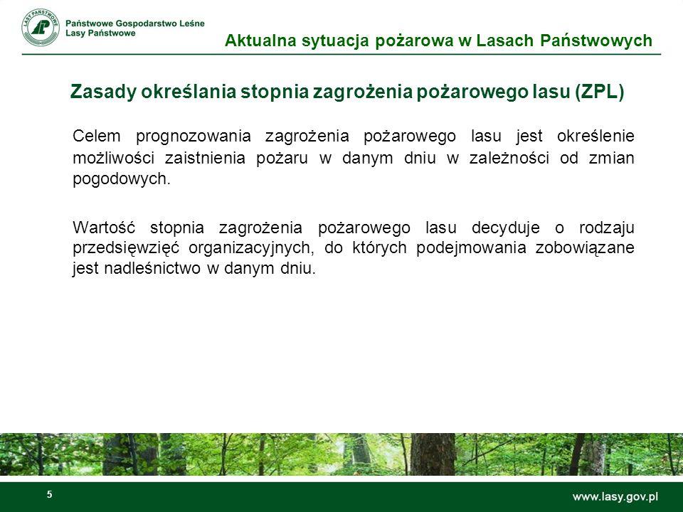 Zasady określania stopnia zagrożenia pożarowego lasu (ZPL)