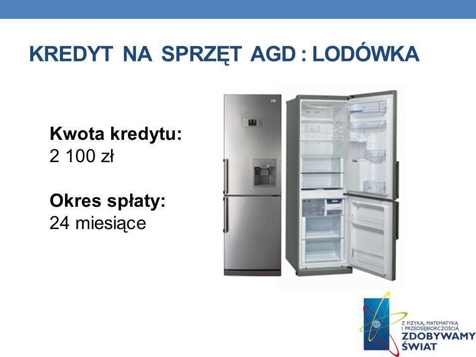 Kredyt na sprzęt agd : lodówka