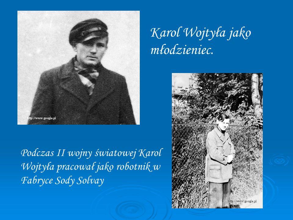 Karol Wojtyła jako młodzieniec.