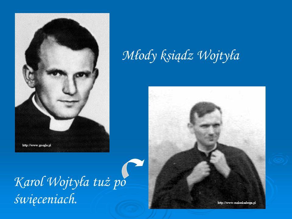 Karol Wojtyła tuż po święceniach.