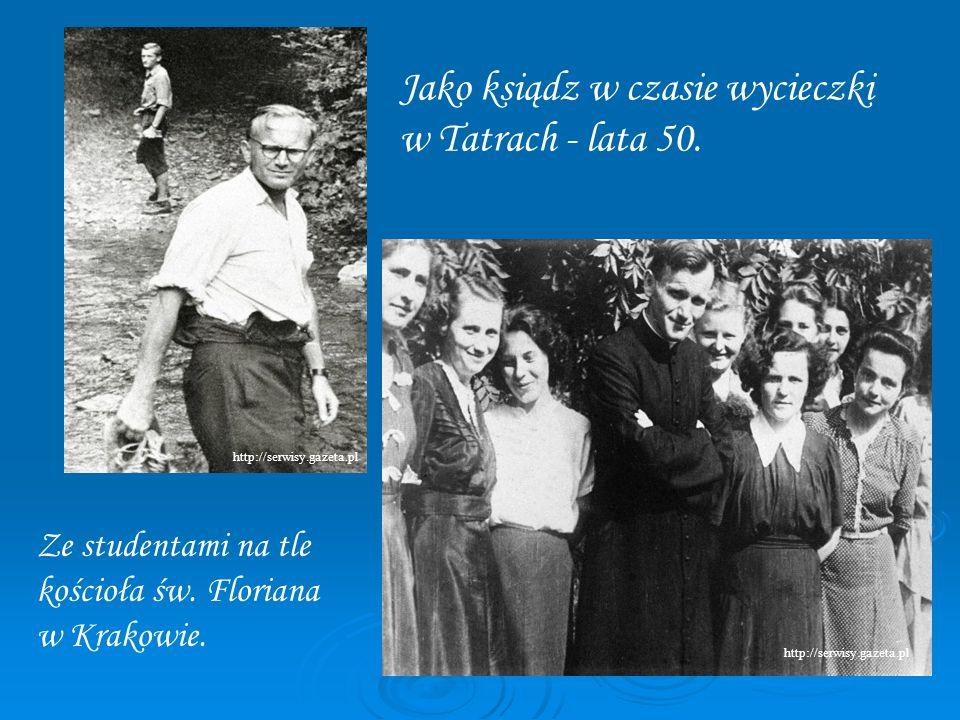 Jako ksiądz w czasie wycieczki w Tatrach - lata 50.
