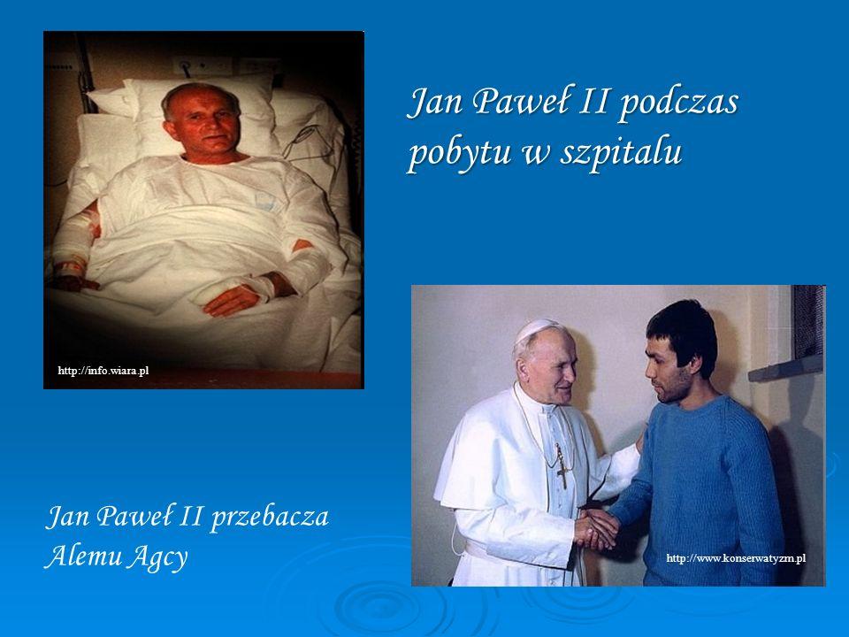 Jan Paweł II podczas pobytu w szpitalu