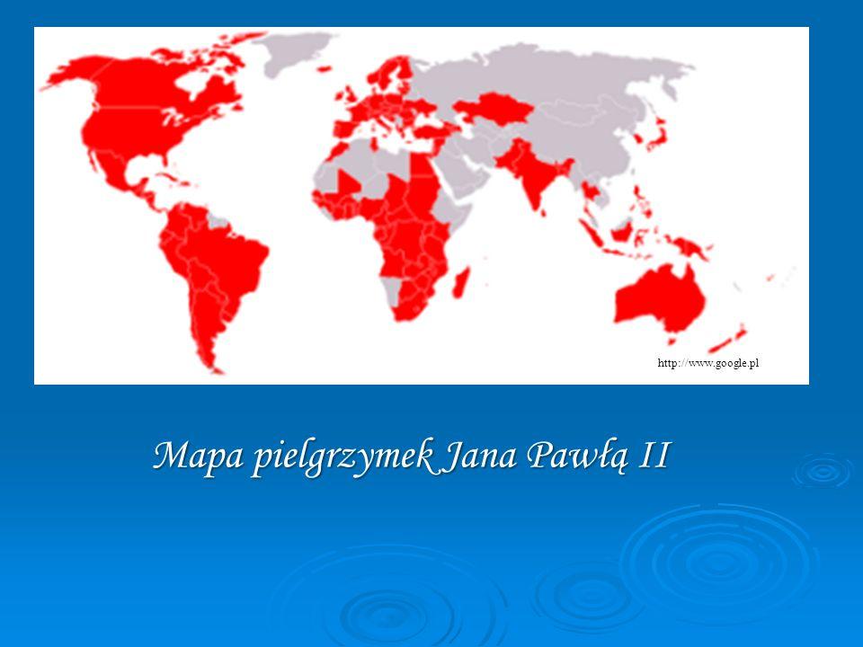 Mapa pielgrzymek Jana Pawłą II
