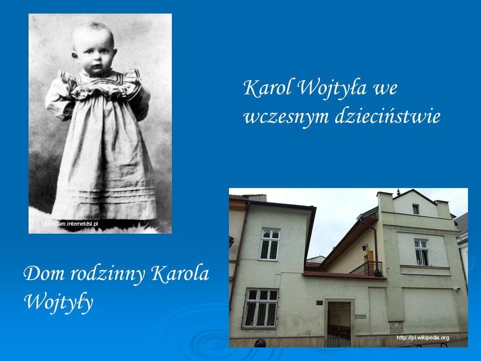 Karol Wojtyła we wczesnym dzieciństwie