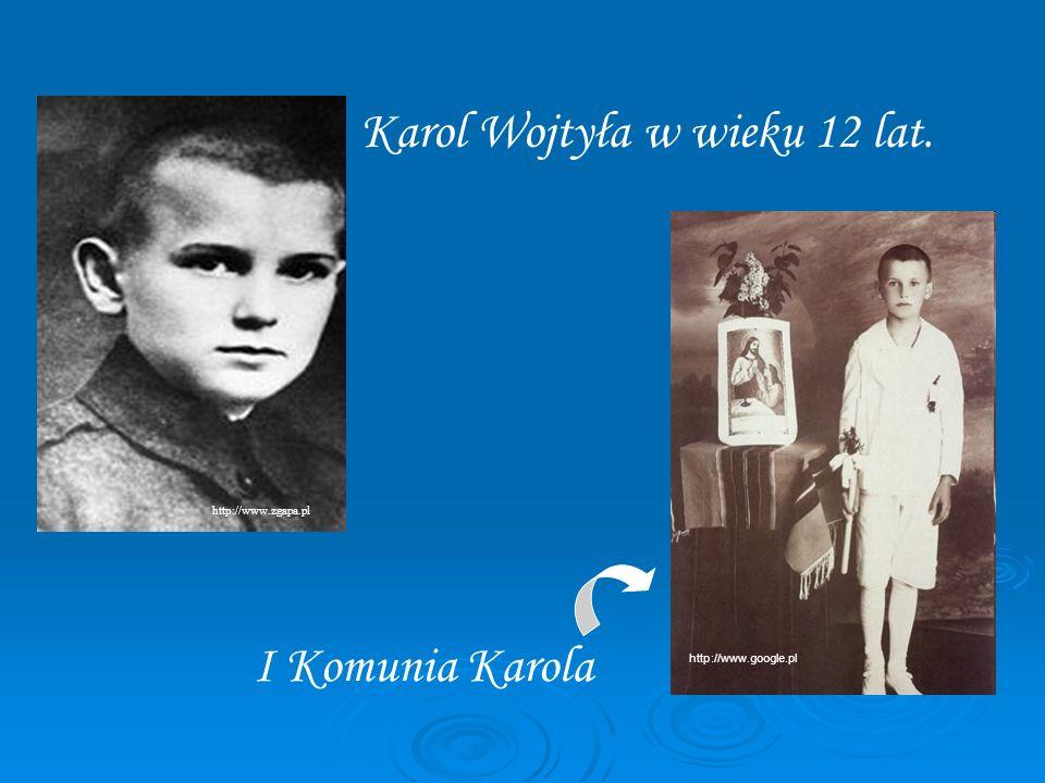 Karol Wojtyła w wieku 12 lat.