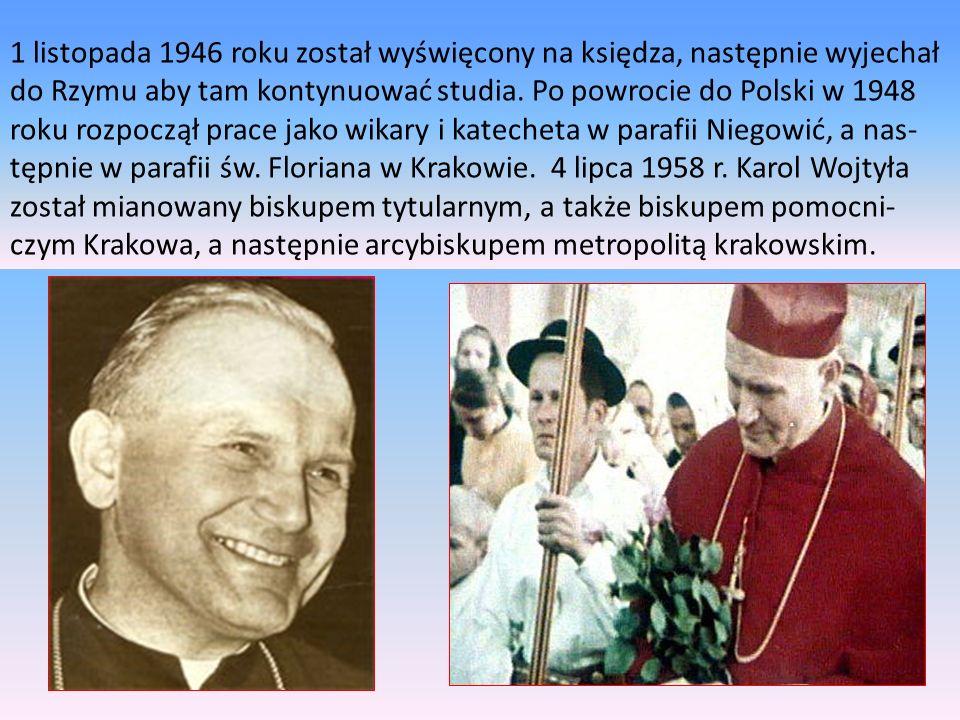 1 listopada 1946 roku został wyświęcony na księdza, następnie wyjechał do Rzymu aby tam kontynuować studia.