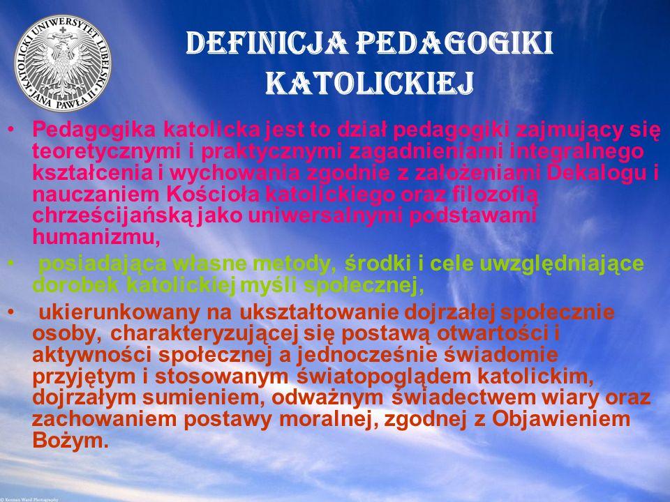 Definicja pedagogiki katolickiej