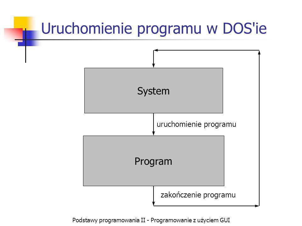Uruchomienie programu w DOS ie