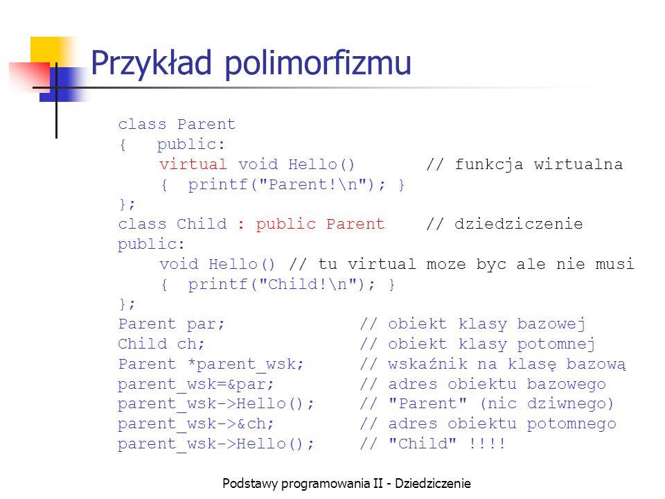 Przykład polimorfizmu