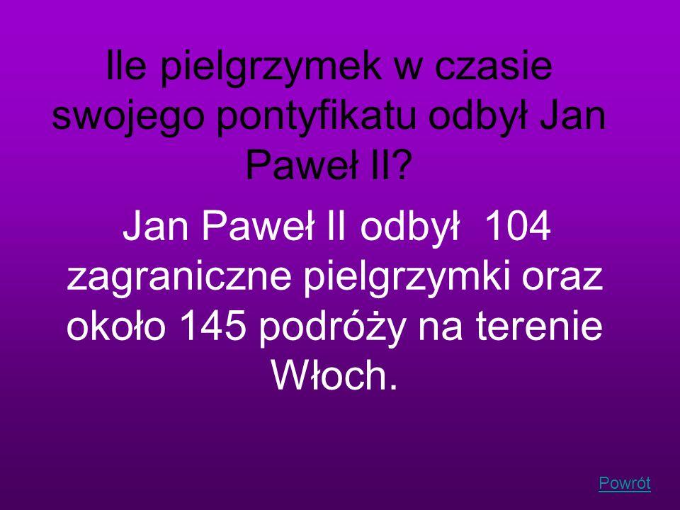 Ile pielgrzymek w czasie swojego pontyfikatu odbył Jan Paweł II