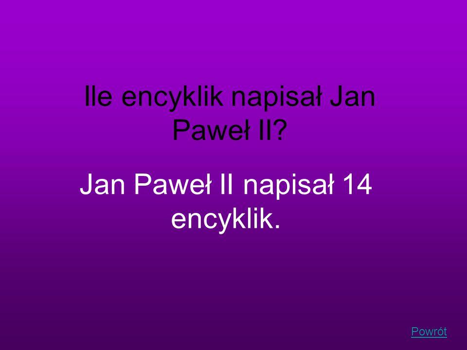 Ile encyklik napisał Jan Paweł II