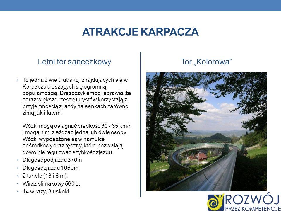 """Atrakcje karpacza Letni tor saneczkowy Tor """"Kolorowa"""