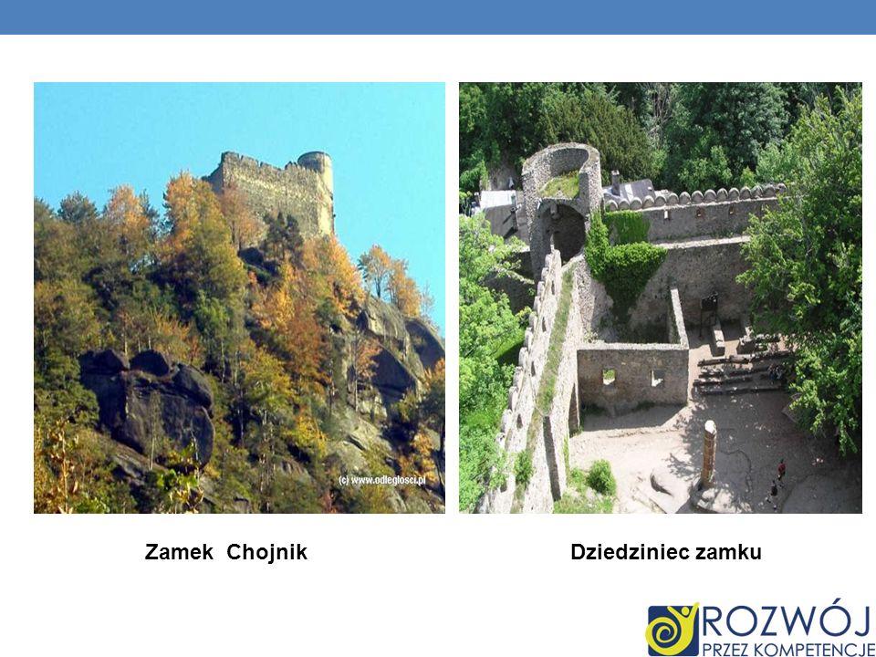 Zamek Chojnik Dziedziniec zamku
