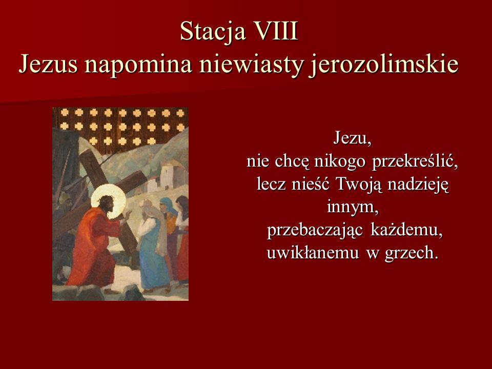 Stacja VIII Jezus napomina niewiasty jerozolimskie