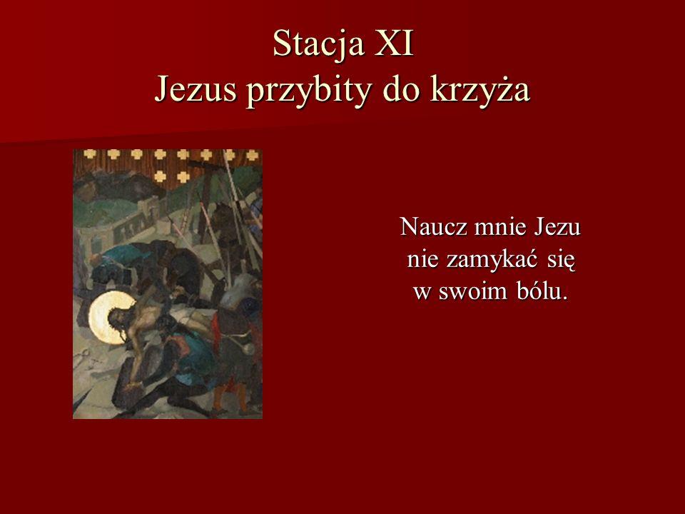 Stacja XI Jezus przybity do krzyża