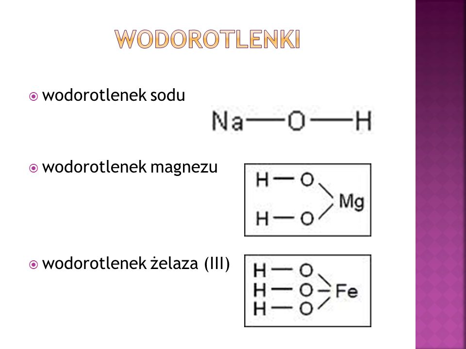 wodorotlenki wodorotlenek sodu wodorotlenek magnezu