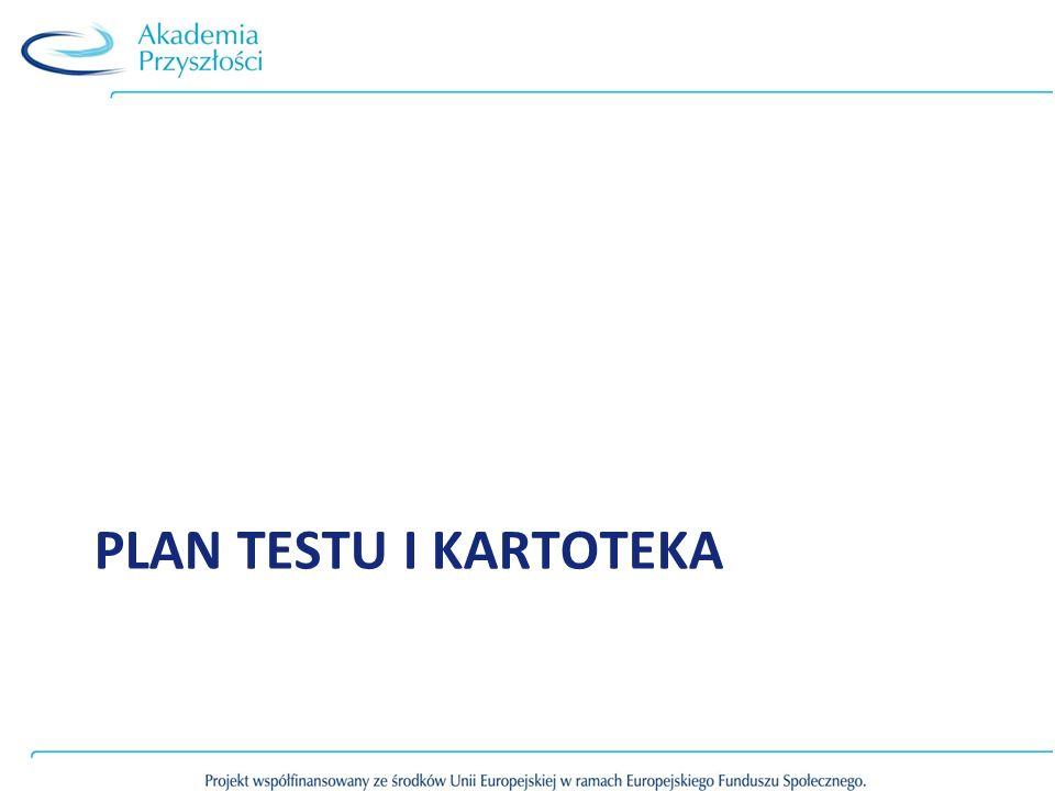 Plan testu i kartoteka
