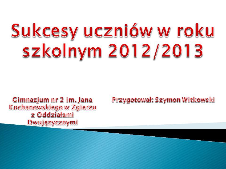 Sukcesy uczniów w roku szkolnym 2012/2013