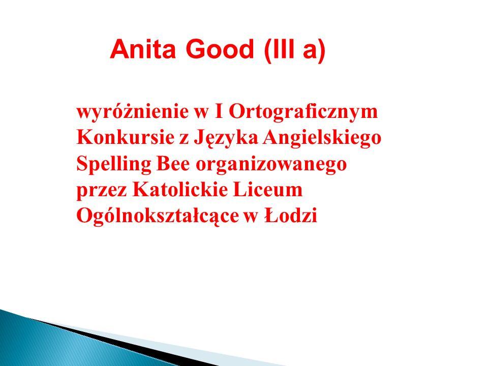 Anita Good (III a)