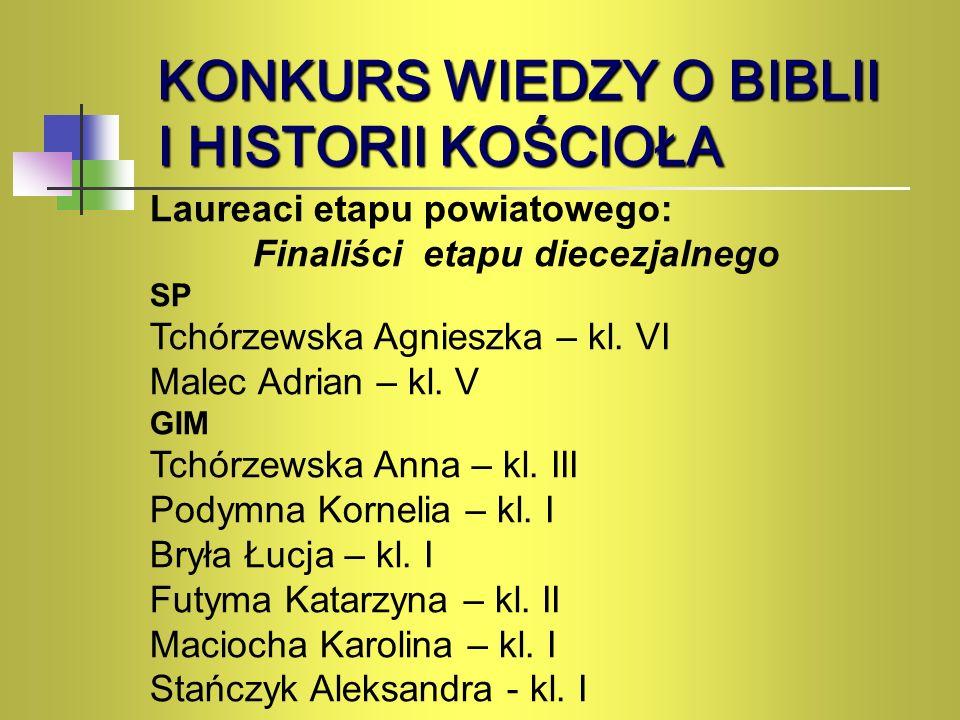Konkurs Wiedzy o Biblii i Historii Kościoła