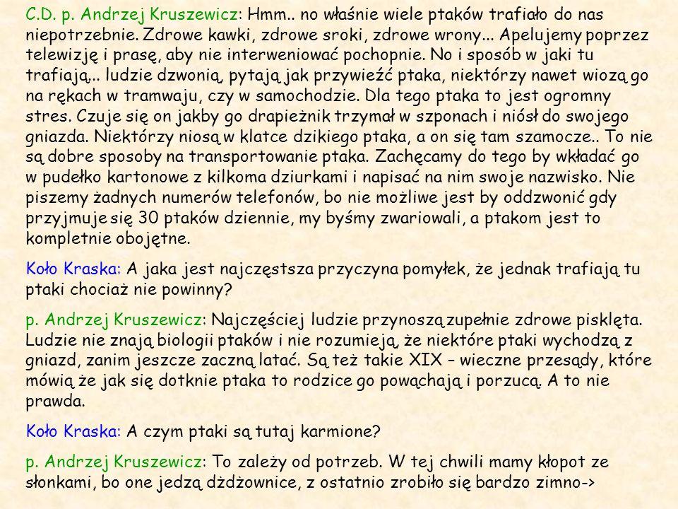 C. D. p. Andrzej Kruszewicz: Hmm