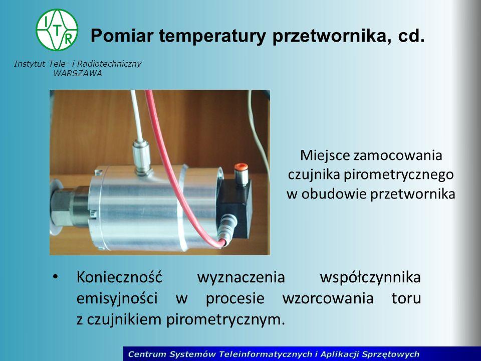 Pomiar temperatury przetwornika, cd.
