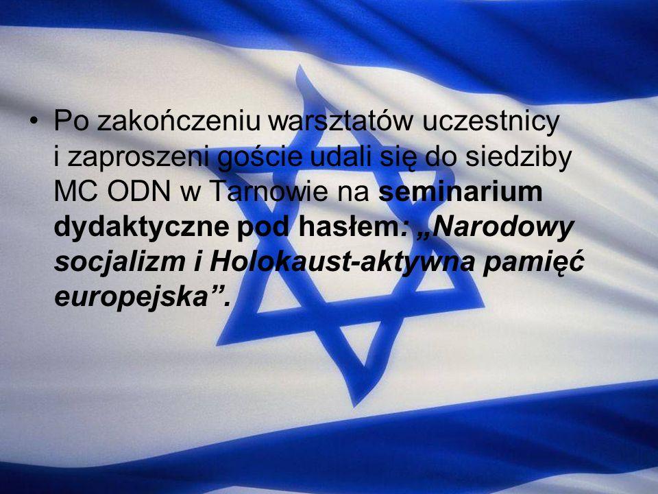"""Po zakończeniu warsztatów uczestnicy i zaproszeni goście udali się do siedziby MC ODN w Tarnowie na seminarium dydaktyczne pod hasłem: """"Narodowy socjalizm i Holokaust-aktywna pamięć europejska ."""
