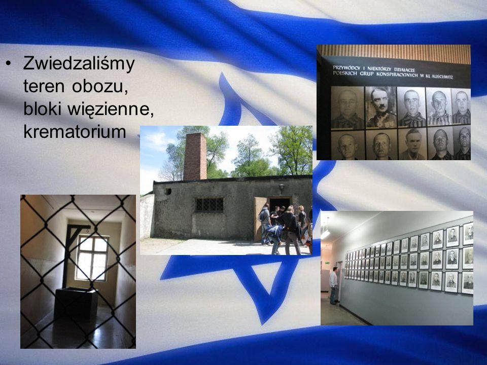 Zwiedzaliśmy teren obozu, bloki więzienne, krematorium