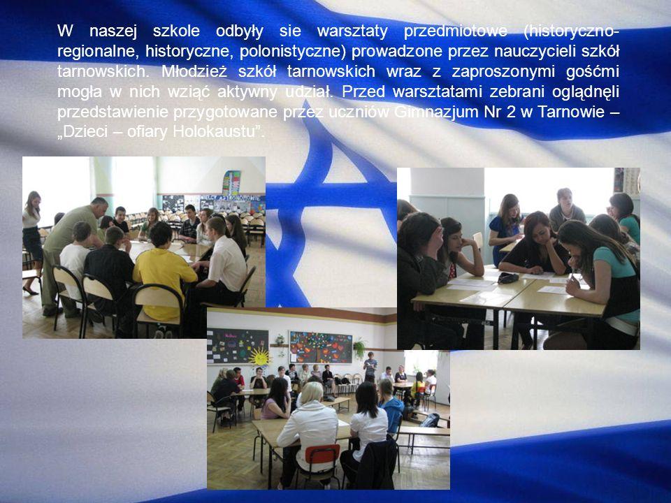W naszej szkole odbyły sie warsztaty przedmiotowe (historyczno-regionalne, historyczne, polonistyczne) prowadzone przez nauczycieli szkół tarnowskich.