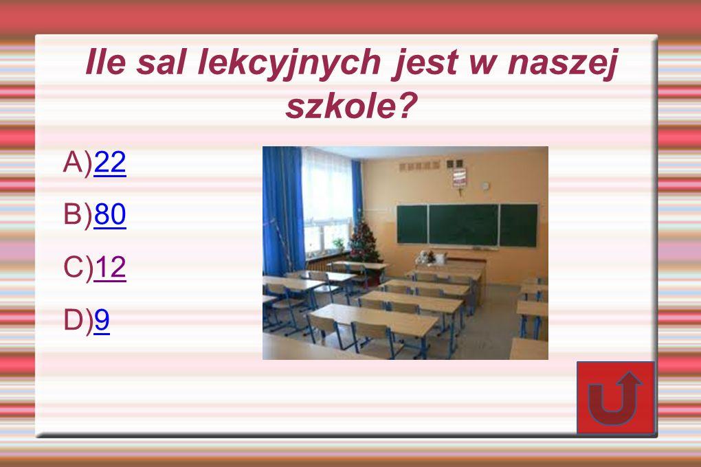 Ile sal lekcyjnych jest w naszej szkole