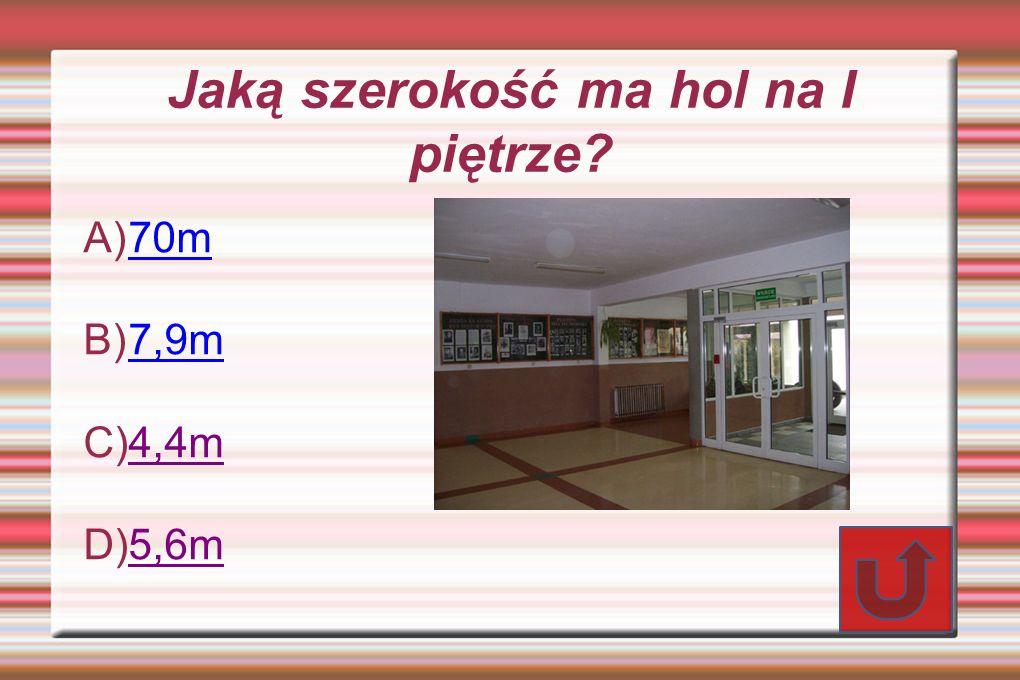 Jaką szerokość ma hol na I piętrze