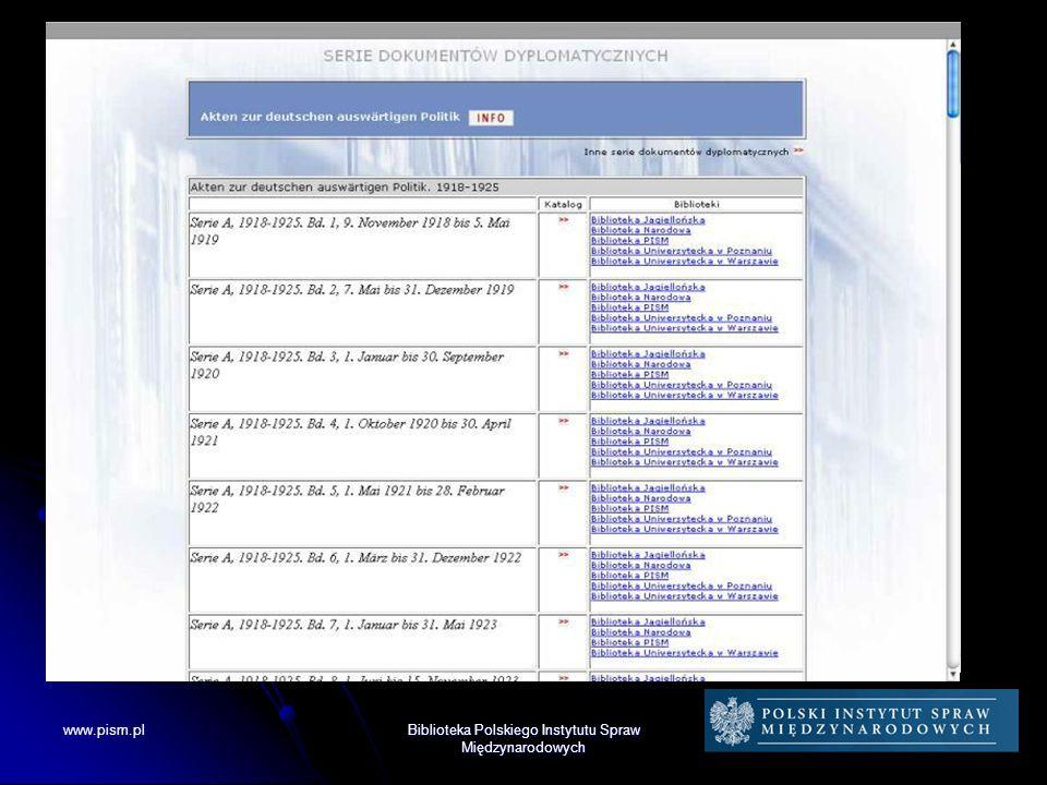 Kolekcje Biblioteki PISM Kolekcja Dokumentów Dyplomatycznych
