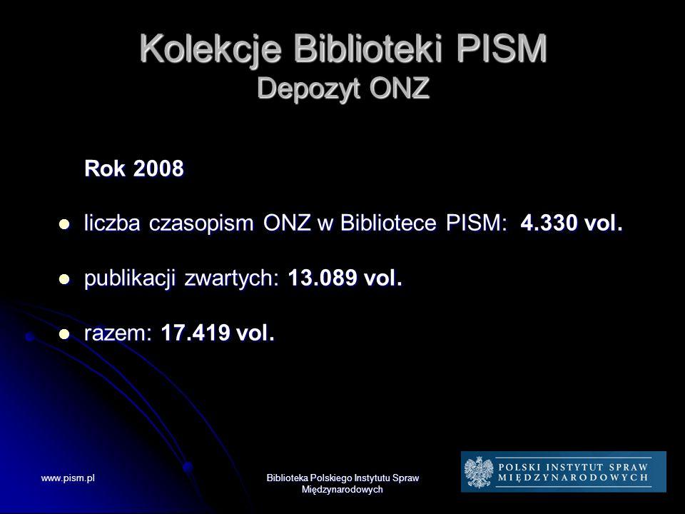 Kolekcje Biblioteki PISM Depozyt ONZ