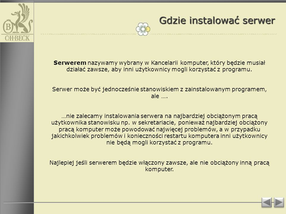 Gdzie instalować serwer