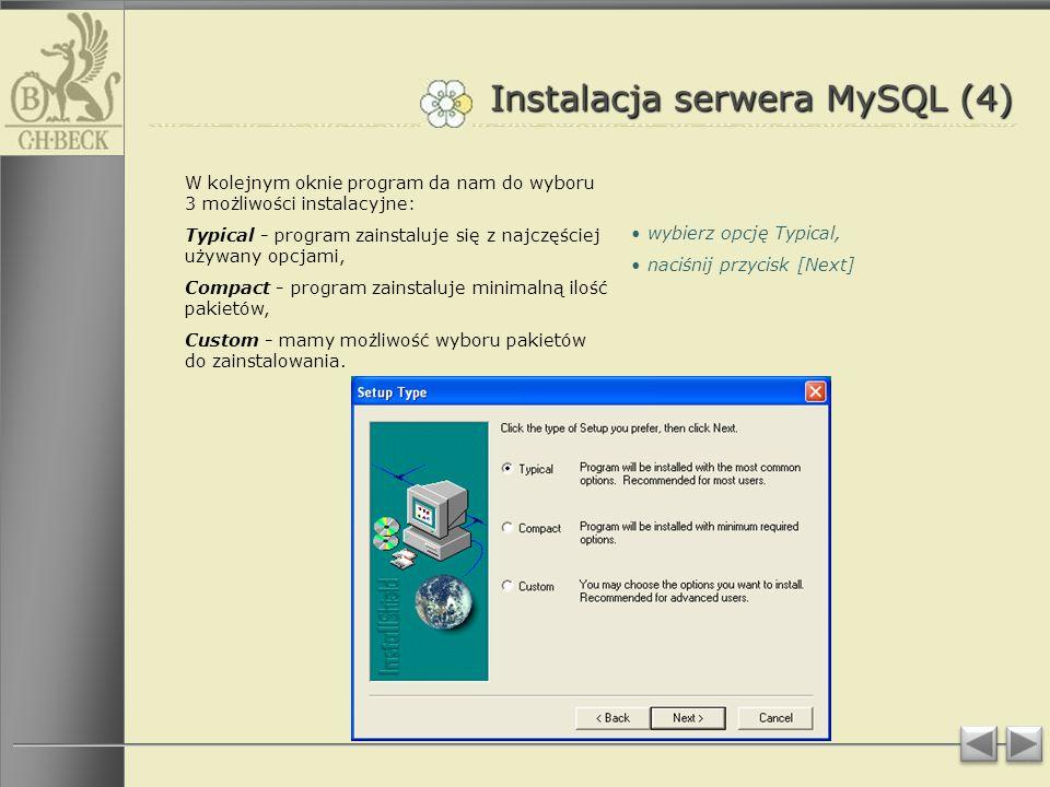 Instalacja serwera MySQL (4)