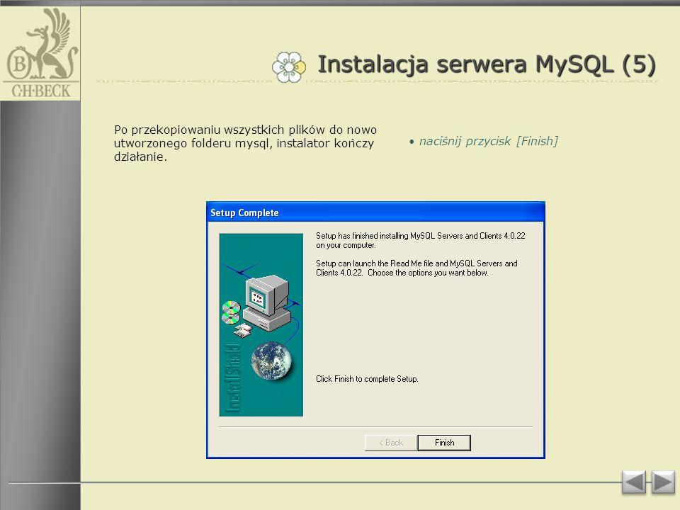 Instalacja serwera MySQL (5)