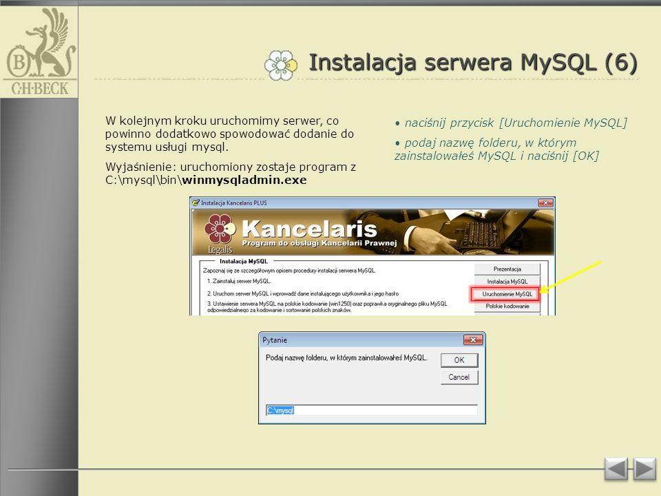 Instalacja serwera MySQL (6)