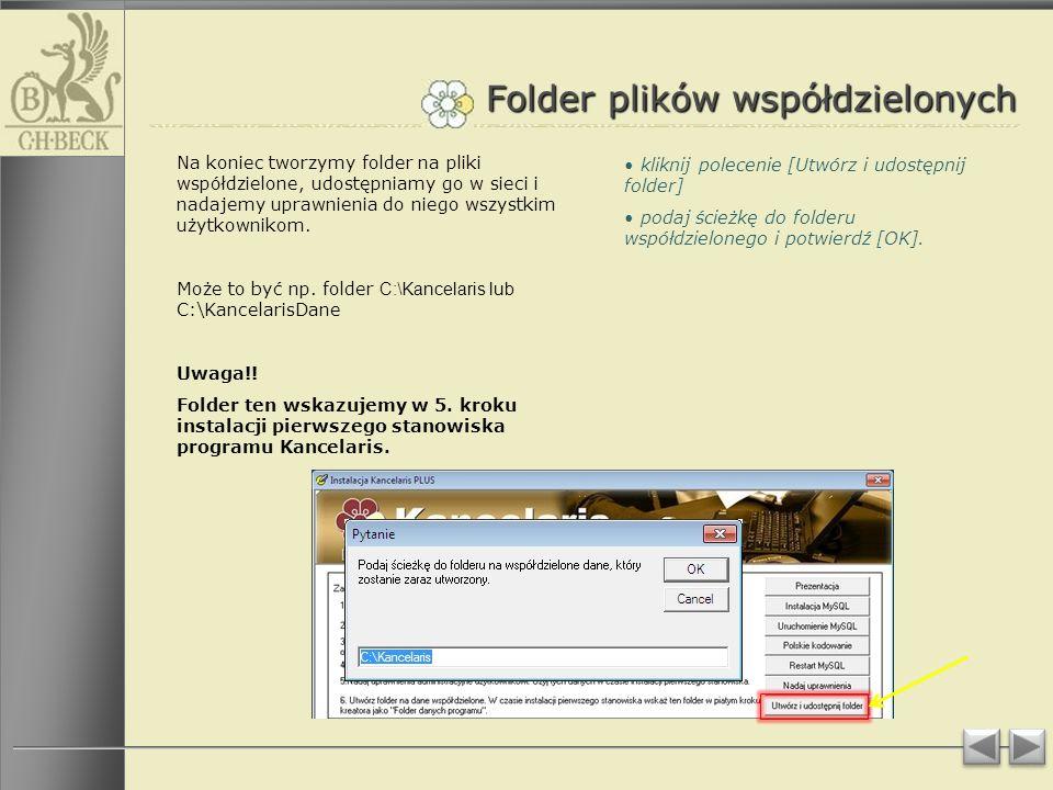 Folder plików współdzielonych