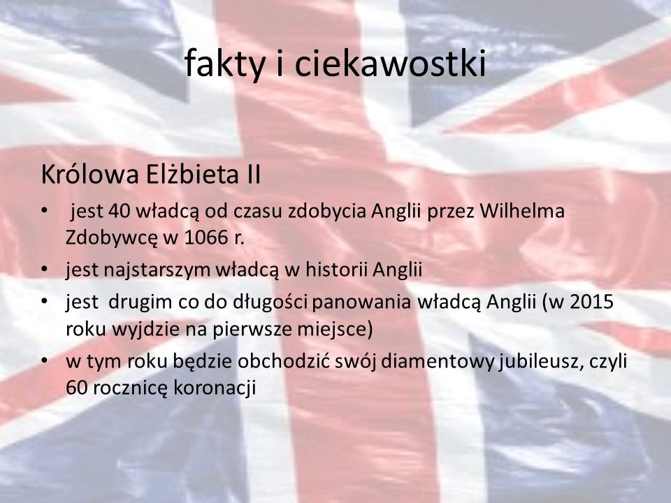 fakty i ciekawostki Królowa Elżbieta II