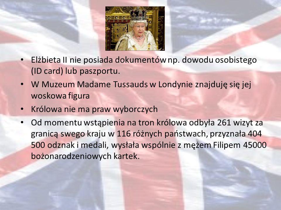 Elżbieta II nie posiada dokumentów np