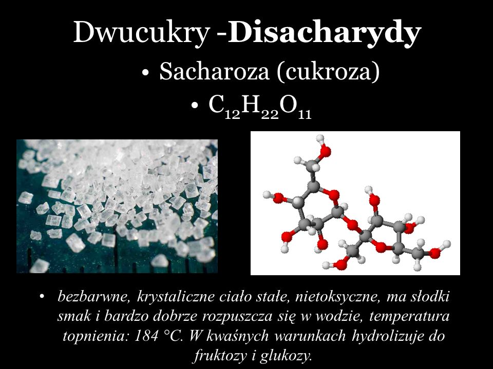 Dwucukry -Disacharydy