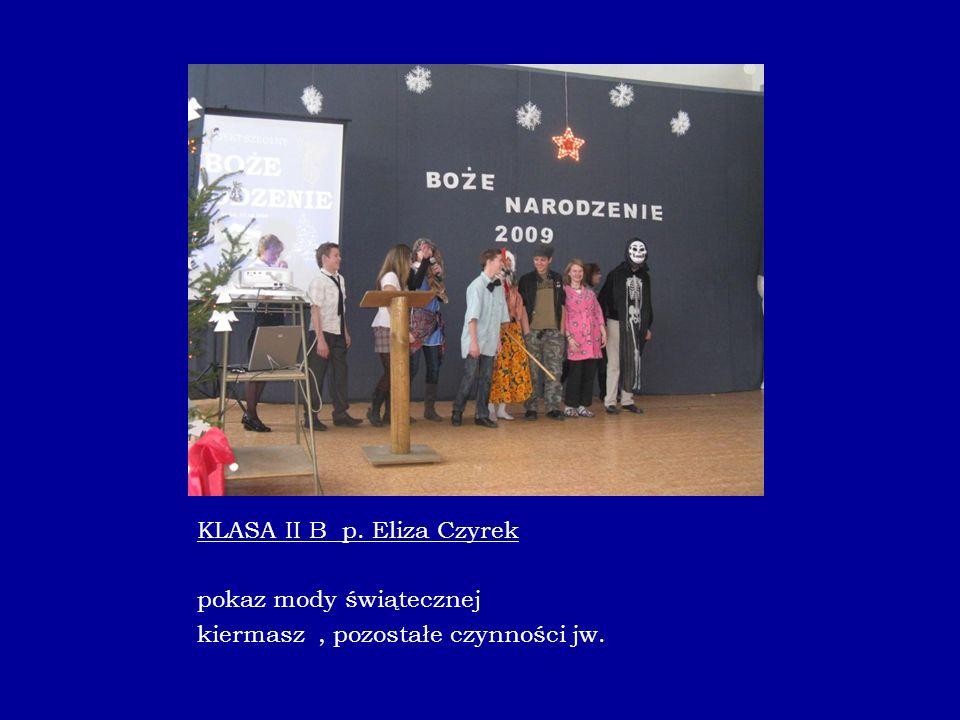 KLASA II B p. Eliza Czyrek