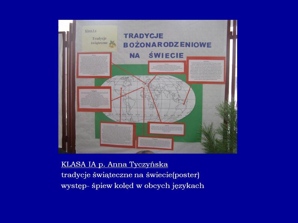 KLASA IA p. Anna Tyczyńska tradycje świąteczne na świecie(poster)