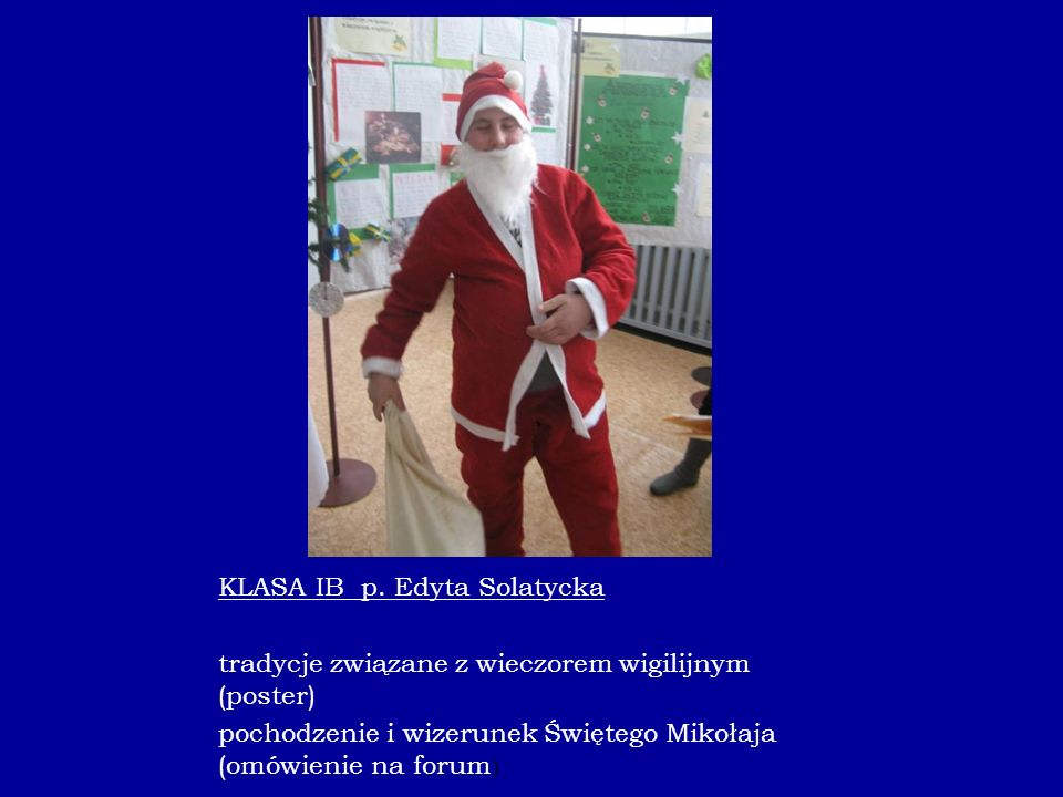 KLASA IB p. Edyta Solatycka