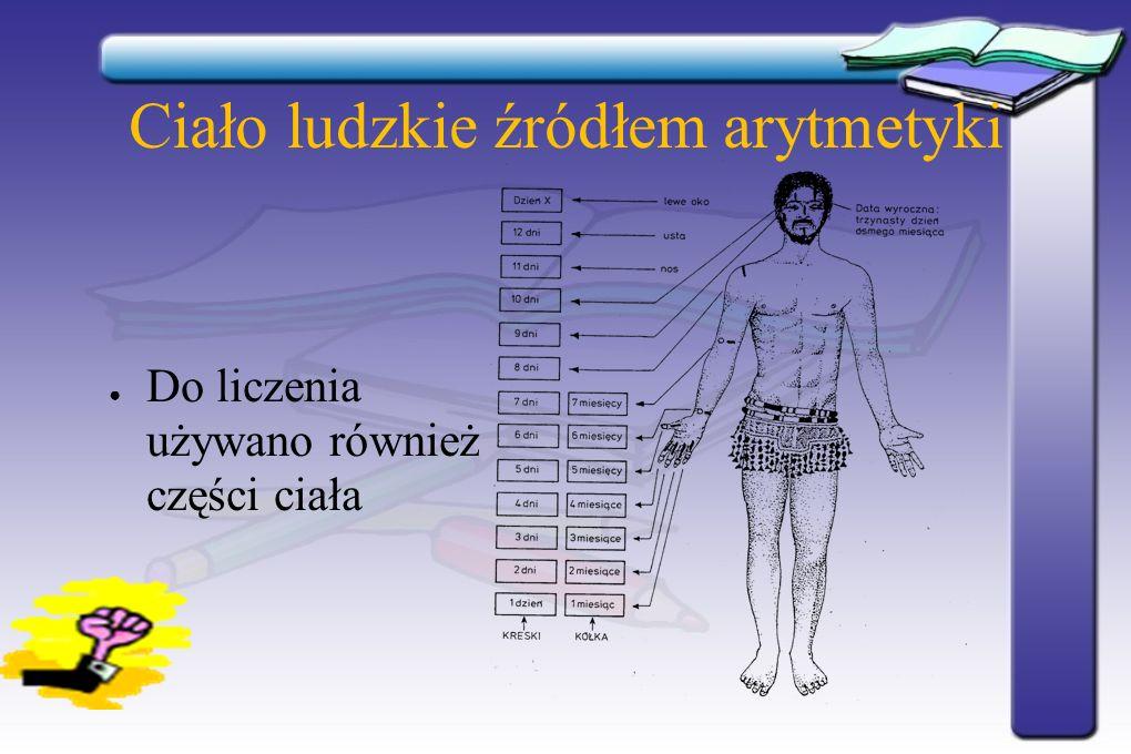 Ciało ludzkie źródłem arytmetyki