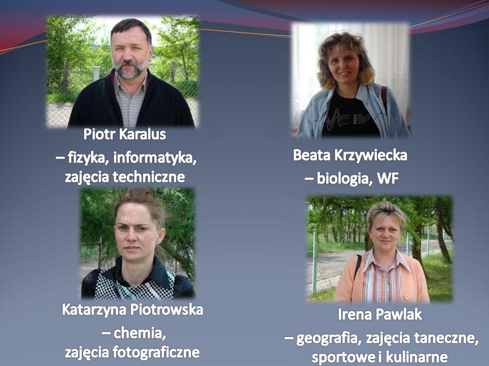 – fizyka, informatyka, zajęcia techniczne Beata Krzywiecka