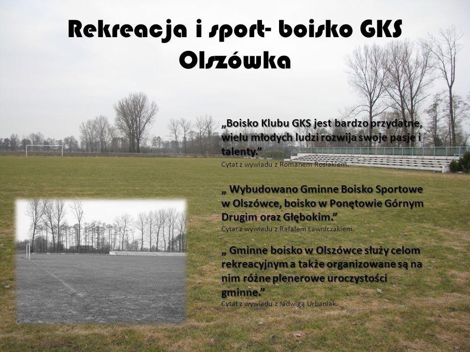 Rekreacja i sport- boisko GKS Olszówka