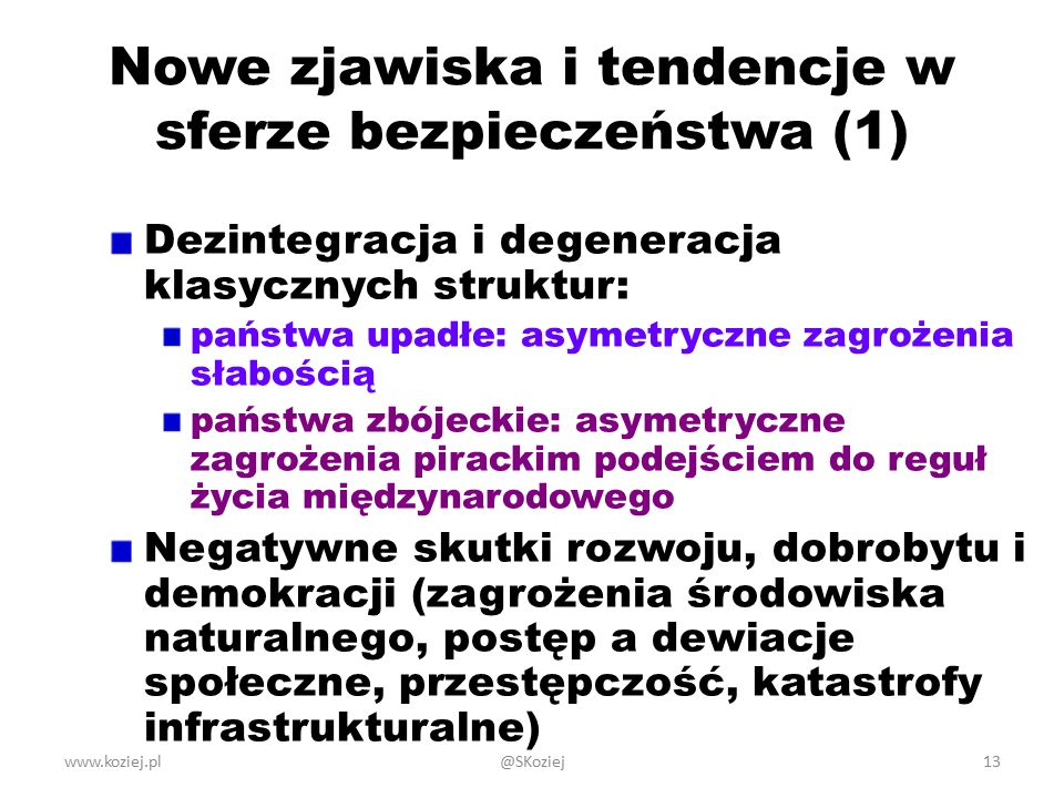Nowe zjawiska i tendencje w sferze bezpieczeństwa (1)