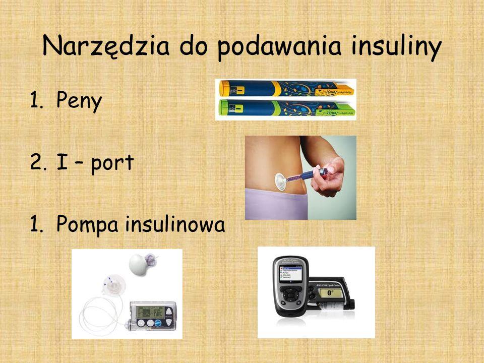 Narzędzia do podawania insuliny